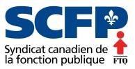 Logo. Syndicat canadien de la fonction publique. FTQ.